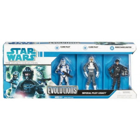 Star Wars Legacy Imperial Pilot Legacy 3 Pack