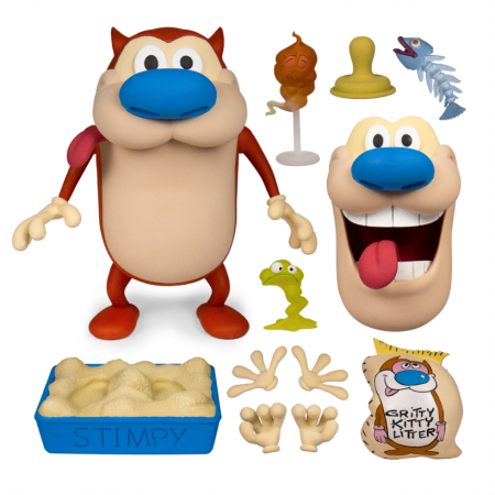 Super7 Ren and Stimpy Stimpy Deluxe Action Figure