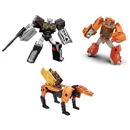 Transformers Titans Return Wave 1 Set of 3 Wheelie, Rewind & Stripes
