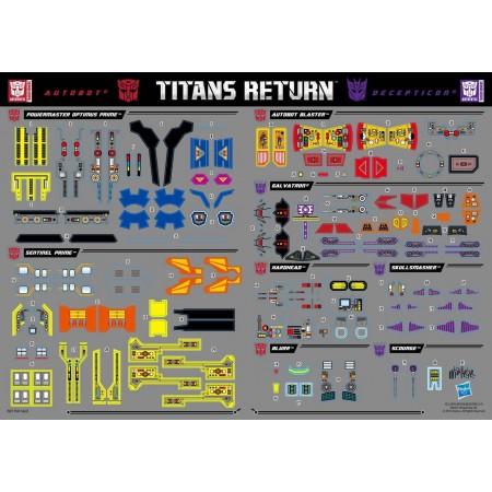 Transformers Titans Return Wave 1 Sticker Sheet