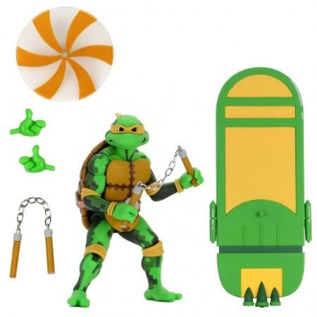NECA TMNT Turtles in Time Michelangelo Action Figure