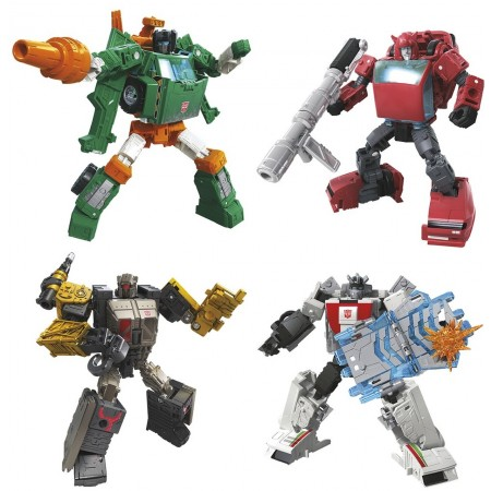 Transformers War For Cybertron Earthrise Deluxe Set of 4 Cliffjumper, Hoist, Wheeljack & Ironworks