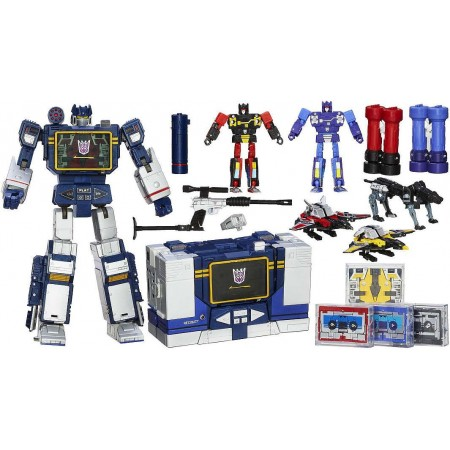BOXES NOT MINT - Transformers Masterpiece Soundwave & 5 Tapes