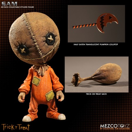 "Mezco Trick R' Treat Sam 6"" Stylized Roto Vinyl Figure"