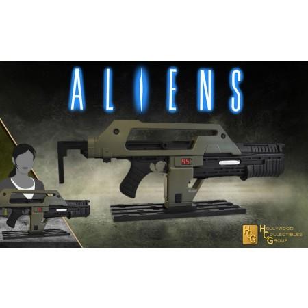Hollywood Coleccionables Aliens Pulse Rifle 1/1 Escala Prop Réplica