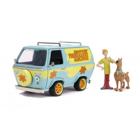 Jada Toys 1:24 Scooby-Doo Mystery Machine With Shaggy & Scooby Figures