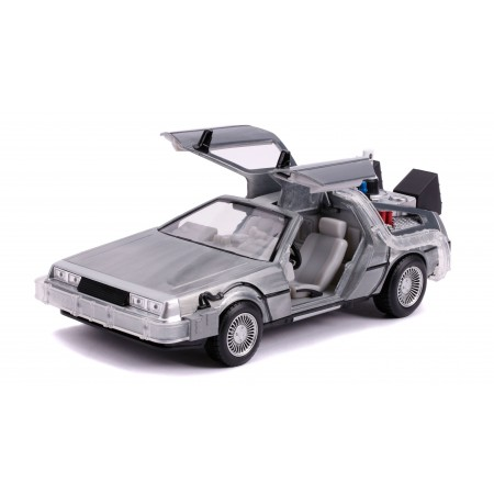 Jada Toys 1:24 Back To The Future Delorean Time Machine ( Folding Wheels & Light / Sound )