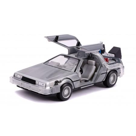 Jada Toys 1:24 Back To The Future Delorean Time Machine ( Folding Wheels & Light / Sound )