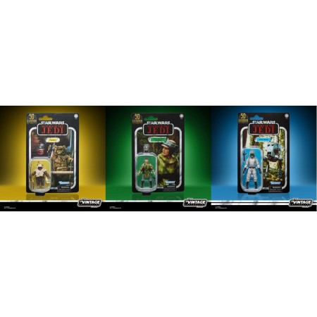 Star Wars The Vintage Collection 50th Anniversary Exclusive Set of 3 Leia, Paploo and AT-ST Driver.