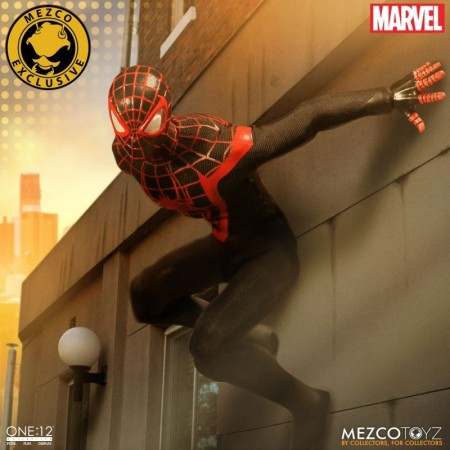 Mezco One 12 Collective Summer Exl Miles Morales Spider-Man