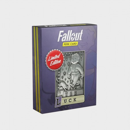Fallout Limited Edition Perk Card - Luck 1/1 Replica