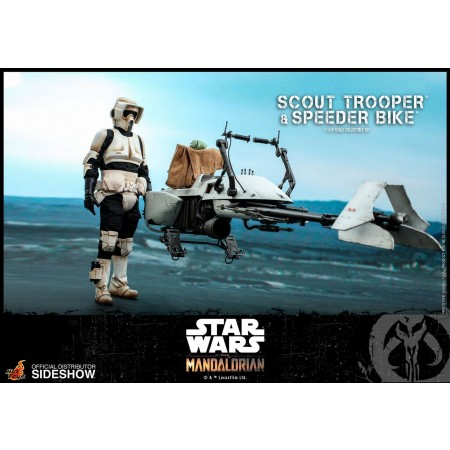 Star Wars The Mandalorian Action Figure 1/6 Scout Trooper & Speeder Bike