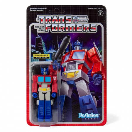 Transformers ReAction Optimus Prime Action Figure