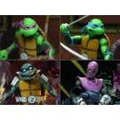 NECA TMNT Tortugas en el conjunto de tiempo de 4 figuras de acción