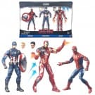 Marvel Legends Captain America Civil War Action Figure 3 Pack