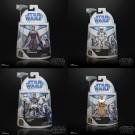 Star Wars The Clone Wars Wave 1 Set of 4 - Anakin, Obi, Echo and Hawk