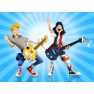 NECA Toony Classics Bill and Ted 2 Pack
