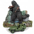 Johnny Lightning 1:64 Willys MB Jeep With Godzilla Diorama