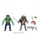 NECA Adolescente Mutante Ninja Tortugas Leatherhead & Slash TMNT Action Figure 2 Pack