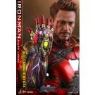 Hot Toys Avengers Endgame Batalla Dañada Iron Man MMS543 D33 1/6 Escala Figura