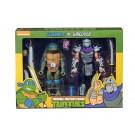 NECA TMNT Leonardo Vs Shredder Cartoon 2 Pack