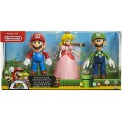 World Of Nintendo Mushroom Kingdom 3 Pack Mario Luigi and Peach