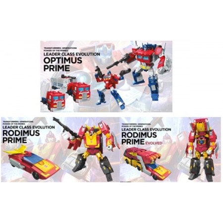 Transformers Power of the Primes Leader Set of 2 Optimus & Rodimus