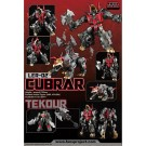 DUE OCTOBER 2014 - ESTIMATED - Fansproject - Lost Exo Realm - LER-02 Cubrar and Tekour. Transforms from voyager size robot to Triceratops and back again. Comes with Tekour who transforms from stone age style axe to robot companion and back again. Ages 16